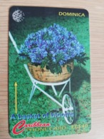 DOMINICA   GPT $ 40,-    A BASKET OF BLOOMS   DOM-138C   138CDMMC   Fine Used  Card  ** 2832** - Dominica