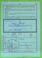 AVERBODE - 850 JAAR ABDIJ / Op Afgiftebewijs/récépissé 201 - Postmark Collection