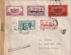 MARTINIQUE 1944 LETTRE CENSUREE DE FORT DE FRANCE POUR NEW YORK - Covers & Documents