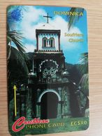 DOMINICA   GPT $ 10,-    SOUFRIERE CHURCH  DOM-153A   153CDMA   Fine Used  Card  ** 2833** - Dominica