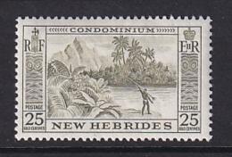 New Hebrides: 1957   Pictorial   SG88   25c   MH - English Legend