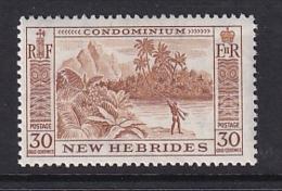 New Hebrides: 1957   Pictorial   SG89   30c   MH - English Legend