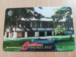 DOMINICA   GPT $ 20,-   PUBLIC LIBRARY  153-C   153CDMC   Fine Used  Card  ** 2835** - Dominica