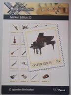 Austria 2020, Musical Instruments, Special Folder From Austria, MNH Self-Adheasive Stamps (Limited Edition) - 2011-... Unused Stamps