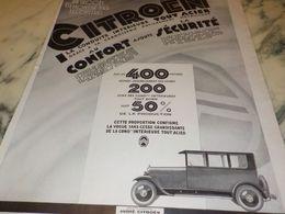 ANCIENNE PUBLICITE VOITURE LA 10 CV  B.14 DE CITROEN  1927 - Cars