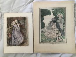 COUPLE ROMANTIQUE MARIE ANTOINETTE X 2 - Drawings