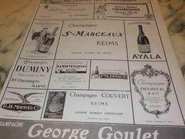 ANCIENNE PUBLICITE GRANDS VINS DE CHAMPAGNE CHAMPAGNE  1927 - Alcools
