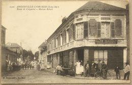 CP ANGERVILLE-L'ORCHER Route De Criquetot. Maison Robert Café - France
