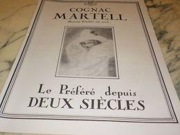 ANCIENNE PUBLICITE COGNAC 2 SIECLES MARTELL 1927 - Alcools