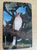DOMINICA   GPT $ 10,-   TROPICAL MOCKING BIRD  244-A   244CDMA   Fine Used  Card  ** 2843** - Dominica