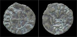 Crusader Archaia Philipp Of Tarent Billon Denier No Date - Monnaies Antiques