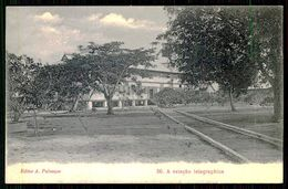 SÃO TOMÉ E PRÍNCIPE - ESTAÇÃO DOS CORREIOS - A Estação Telegraphica. ( Ed. A. Palanque Nº 56) Carte Postale - São Tomé Und Príncipe