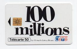 """Télécarte Loto """"100 Millions"""" - Giochi"""