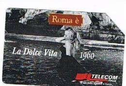 TELECOM ITALIA - C.& C. F3054 -  CINEMA: LA DOLCE VITA 1960 (ANITA EKBERG)      - USATA - Publiques Spéciales Ou Commémoratives