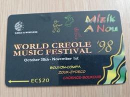 DOMINICA   GPT $ 20,-  WORLD CREOLE MUSIC FESTIVAL 98  266-A   266CDMA   Fine Used  Card  ** 2848** - Dominica