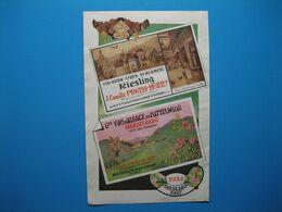 (1949) Vins D'Alsace : J. Camille PREISS-HENNY à Mittelwihr & Riquewihr -- E. BURCKARD à Mulhouse - Publicidad