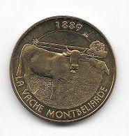 Médaille Touristique, Ville, Monnaie De Paris  2015, Animal, 1889  LA  VACHE  MONTBÉLIARDE  ( 01 ) - 2015