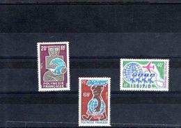 Polynésie Française Timbres Neufs** N° 77 à 79** 3 Valeurs Année 1970 - Unused Stamps