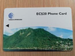 DOMINICA   GPT $ 20,-    MORNE PATATES 281-C   281CDMC   Fine Used  Card  ** 2852** - Dominica