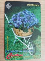 DOMINICA   GPT $ 40,-     A BASKET OF BLOOMS  153-E   153CDME   Fine Used  Card  ** 2853** - Dominica
