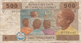 Afrique Centrale : 500 Francs 2002 U (très Mauvais état) - Altri – Africa