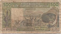 Afrique Ouest : 500 Francs 1987 A (très Mauvais état) - Altri – Africa