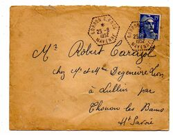 1953--Lettre De GORRON CP N° 5 (Mayenne-53) Pour THONON LES BAINS--type Marianne De Gandon..cachet - Postmark Collection (Covers)