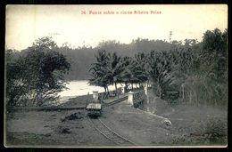SÃO TOMÉ E PRÍNCIPE - Ponte Sobre O Rio Na Ribeira Peixe. ( Ed. A. Palanque Nº 36) Carte Postale - São Tomé Und Príncipe