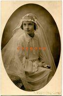 Foto Postale Scoffone Ritratto Ragazza Niña Girl Comunione Cuneo Italia 1933 - Identified Persons