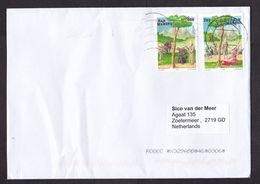 San Marino: Cover To Netherlands, 2020, 2 Stamps, Europa, Legend, Religion, Bear, Dutch Cancel Only (minor Creases) - San Marino