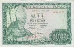 Ref. 243-422 - BIN SPAIN . 1965. 1000 Pesetas 19th November 1965 - San Isidoro. 1000 Pesetas 19 De Noviembre 1965 - San - 1000 Pesetas