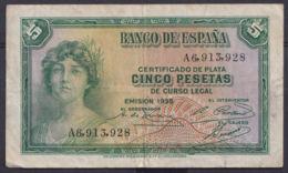 Ref. 410-4447 - BIN SPAIN . 1935. 5 PESETAS 1935. 5 PESETAS 1935 - [ 2] 1931-1936 : Republic
