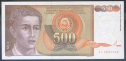Ref. 3750-4187 - BIN YUGOSLAVIA . 1991. YUGOSLAVIA 500 DINARA 1991 - Jugoslawien