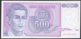Ref. 3754-4191 - BIN YUGOSLAVIA . 1992. YUGOSLAVIA 500 DINARA 1992 - Jugoslawien