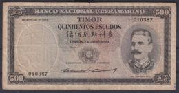 Ref. 5340-5845 - BIN TIMOR . 1959. TIMOR 1959 500 ESCUDOS - Timor