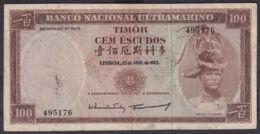 Ref. 5343-5848 - BIN TIMOR . 1963. TIMOR 1963 100 ESCUDOS - Timor