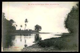 SÃO TOMÉ E PRÍNCIPE - A Foz Do Rio Quija Effeito De Contra Luz. ( Ed. A. Palanque Nº 34) Carte Postale - São Tomé Und Príncipe