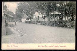 """SÃO TOMÉ E PRÍNCIPE -CORETOS - Praça Governador """" Melo"""" Na Cidade. ( Ed. A. Palanque Nº 29) Carte Postale - São Tomé Und Príncipe"""