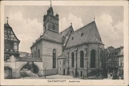 Ansichtskarte Darmstadt Stadtkirche 1919 - Darmstadt