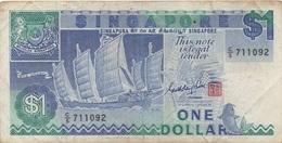 Singapour Singapore : 1 Dollar 1987 Mauvais état - Singapur