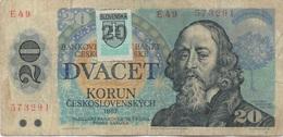 Slovaquie Slovakia : 20 Korun 1988 (étiquette SLOVENSKA Après La Séparation) - Slowakije