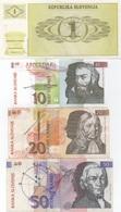 Slovénie : Série De 4 Billets 1992 : 1 Ena + 10+20+50 Tolarjev (état : UNC - UNC - Circulé - TTB) - Slowenien