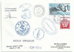 YT 214 Pétrel Tempête - Posté à Bord Du MD - Transport Par Hélicoptère - Port Aux Français - Kerguelen - 24/07/1997 - Lettres & Documents