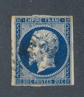 FRANCE - N° 14A B) BLEU NOIR O1BLITERE PC 2691 - 1854 - 1853-1860 Napoléon III