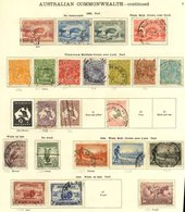 BRITISH EMPIRE Collection Housed In A New Ideal Album 1840-1936 Good General Ranges, Noted - Australia 1913 6d Kookaburr - Non Classés