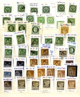 FOREIGN Ranges On Leaves From France Incl. A Quantity Of Ceres Type 3 Plating Copies, Also Colonies, Italy, Netherlands, - Timbres