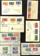 1937 Coronation - Complete Set Of FDC's Mainly Registered (202 Stamps On 58 Covers). - Grande-Bretagne