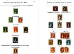 QUEEN VICTORIA PORTRAITS Collection Of M & U Stamps Superbly Presented On Leaves In Protectors Incl. Several Wyon & Chal - Timbres