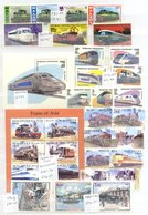RAILWAYS UM Collection Of Stamps & M/Sheets Of Issues Up To 2009. A Colourful Range. Cat. £1800. (100's) - Timbres