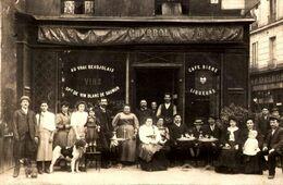 75] Paris 11  :  Cafe Chabrol  :rue  Charonne  : : Vins : Billard PHOTO / TTBE  / AS DE TREFFLE  TRES TRES RARE  //// 9 - Distretto: 11